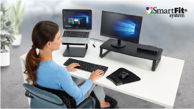 Postazione ergonomica per l'Home Office con Kensington