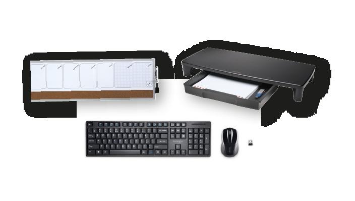 Soluzione per organizzare la scrivania dedicata all'Home Office