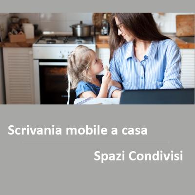Scrivania mobile spazi condivisi